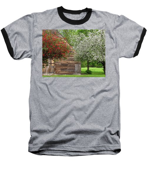 Spring Flowers And The Barn Baseball T-Shirt