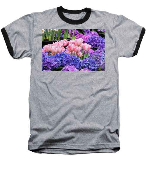 Spring Flowers Baseball T-Shirt by Darleen Stry