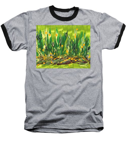 Baseball T-Shirt featuring the painting Spring Garden by Holly Carmichael