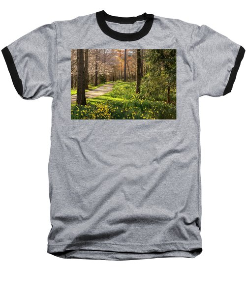 Spring Garden Path Baseball T-Shirt