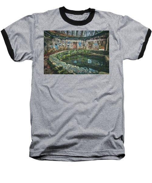 Baseball T-Shirt featuring the photograph Spring House 2 - Paradise Springs - Kettle Moraine State Forest by Jennifer Rondinelli Reilly - Fine Art Photography