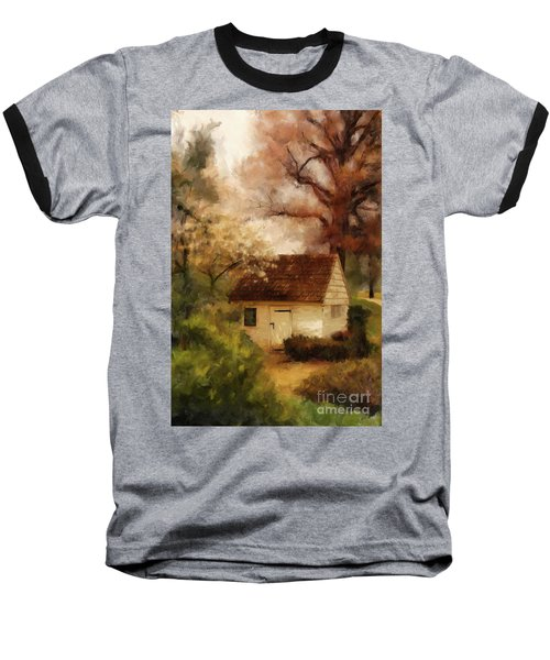 Baseball T-Shirt featuring the digital art Spring House In The Spring by Lois Bryan