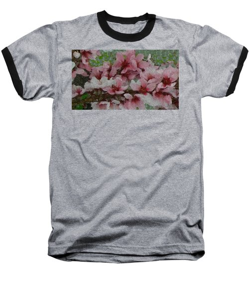 Baseball T-Shirt featuring the photograph Spring Peach Blossoms by Donna G Smith