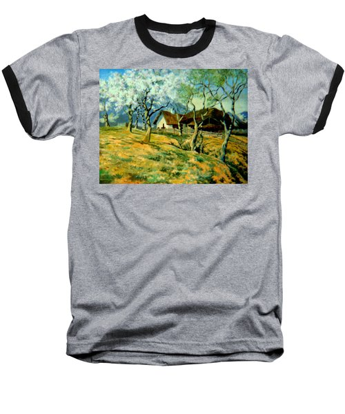 Baseball T-Shirt featuring the painting Spring In Poland by Henryk Gorecki