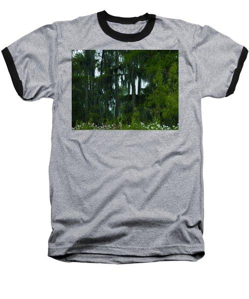 Spring In The Swamp Baseball T-Shirt by Kimo Fernandez