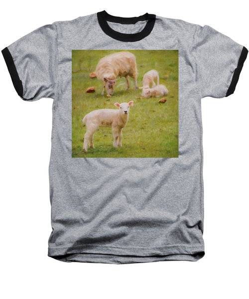 Baseball T-Shirt featuring the photograph Spring Lamb by Bellesouth Studio