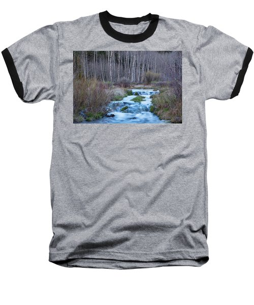 Spring Melt Off Flowing Down From Bonanza Baseball T-Shirt by James BO Insogna
