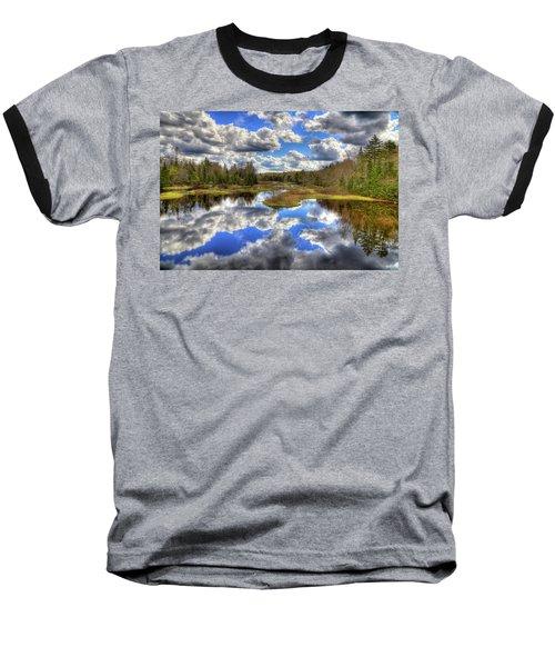 Spring Morning At The Green Bridge Baseball T-Shirt by David Patterson