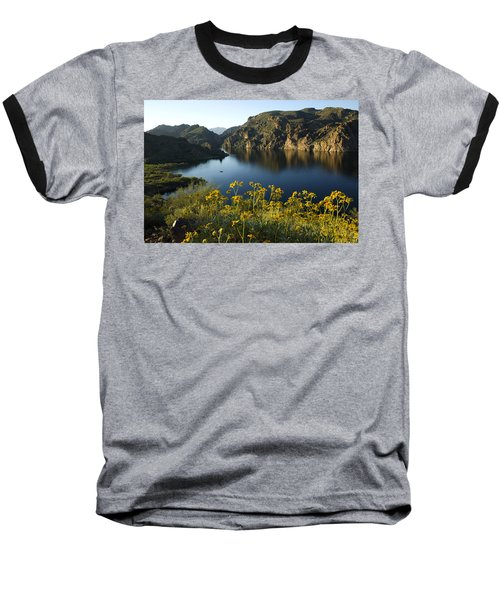 Spring Morning At The Lake Baseball T-Shirt