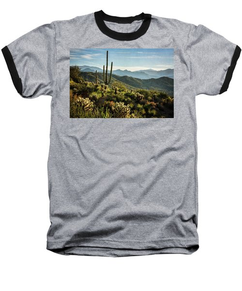 Baseball T-Shirt featuring the photograph Spring Morning In The Sonoran  by Saija Lehtonen