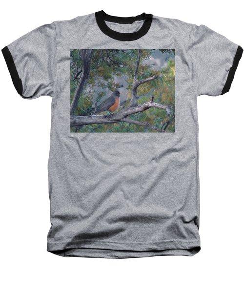 Spring Morning Robin Da Baseball T-Shirt
