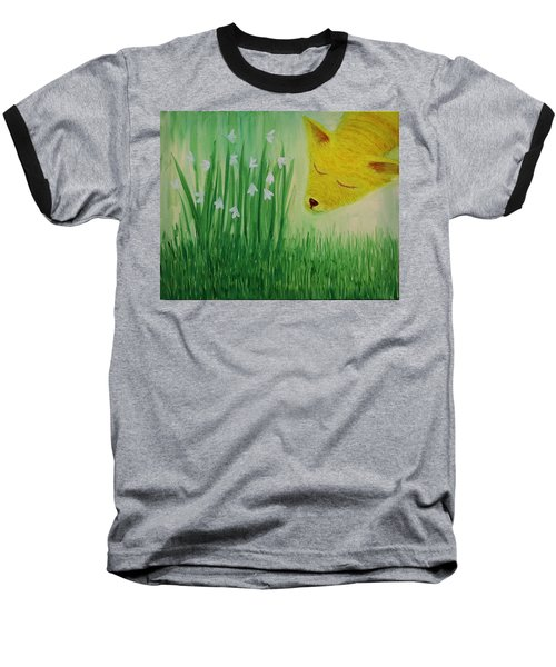 Baseball T-Shirt featuring the painting Spring Morning by Tone Aanderaa