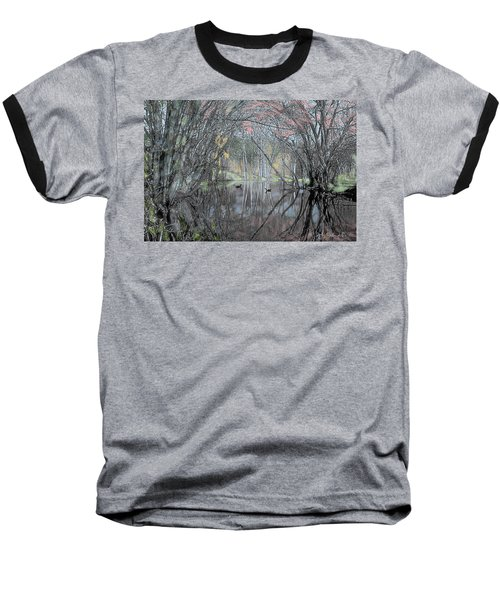 Spring On The Backwater Baseball T-Shirt by John Selmer Sr
