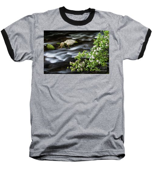 Baseball T-Shirt featuring the photograph Spring On The Oconaluftee River - D009923 by Daniel Dempster