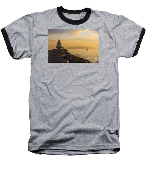 Spring Point Lighthouse At Dawn. Baseball T-Shirt by Diane Diederich