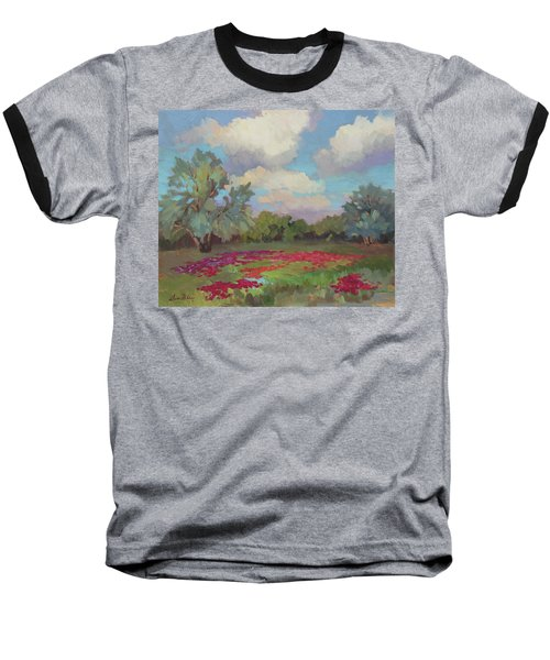 Baseball T-Shirt featuring the painting Spring Poppies by Diane McClary