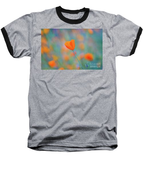 Spring Poppy Baseball T-Shirt