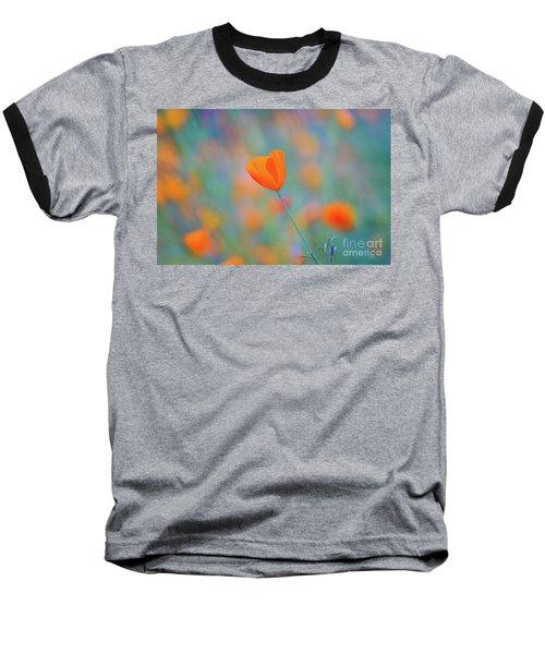 Spring Poppy Baseball T-Shirt