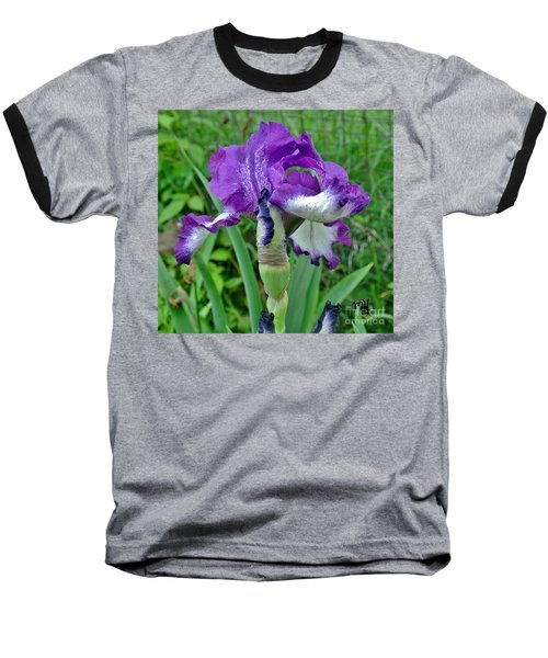 Baseball T-Shirt featuring the photograph Spring Purple Iris by Marsha Heiken