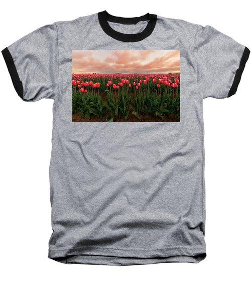 Spring Rainbow Baseball T-Shirt by Ryan Manuel