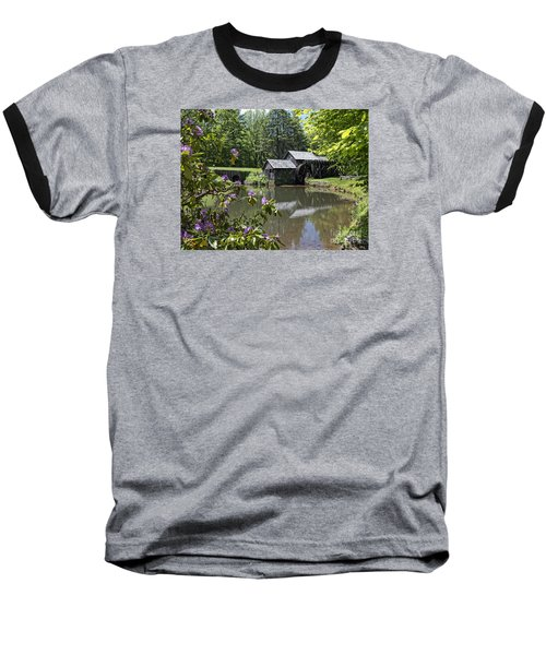 Spring Reflections Of An Ancient Mill Baseball T-Shirt