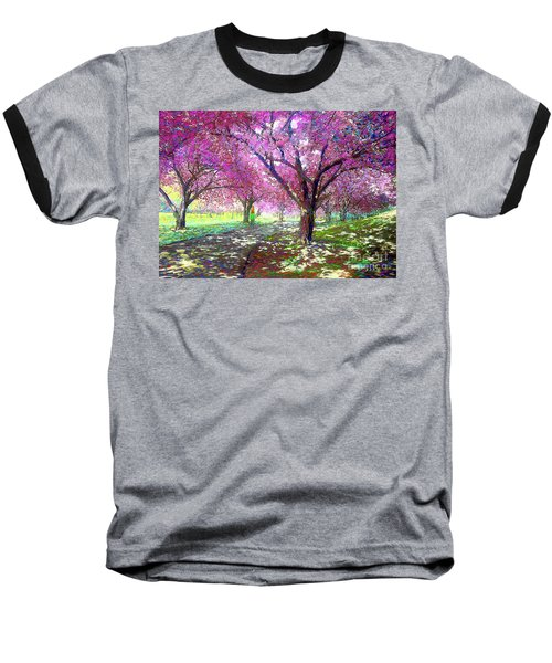 Spring Rhapsody, Happiness And Cherry Blossom Trees Baseball T-Shirt