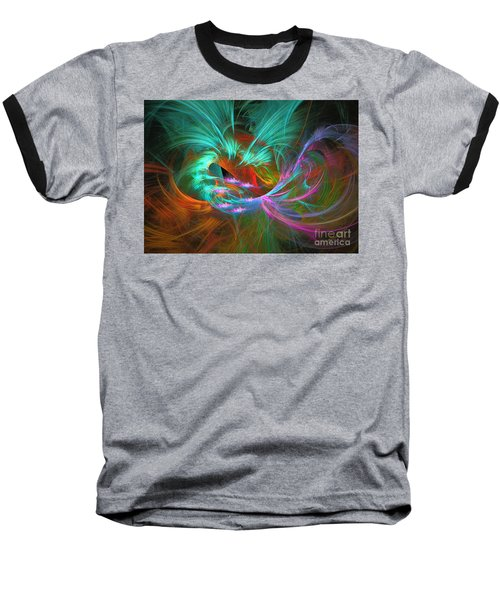 Baseball T-Shirt featuring the digital art Spring Riot by Sipo Liimatainen