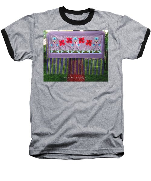 Baseball T-Shirt featuring the tapestry - textile Spring Rising by Chholing Taha