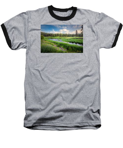 Baseball T-Shirt featuring the photograph Spring River Valley by Rikk Flohr