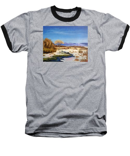 Baseball T-Shirt featuring the painting Spring Runoff by Sherril Porter