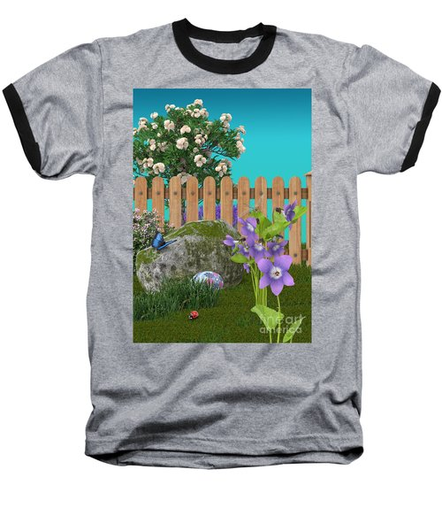 Baseball T-Shirt featuring the digital art Spring Scene by Mary Machare