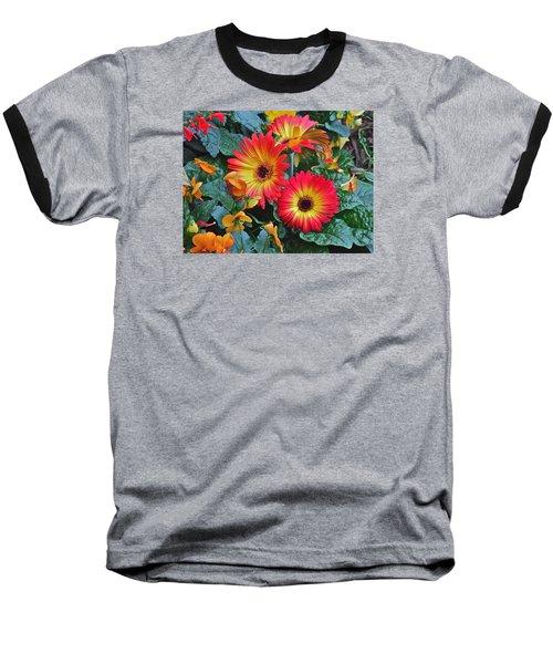 Spring Show 14 Gerbera Daisy 1 Baseball T-Shirt by Janis Nussbaum Senungetuk