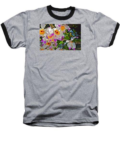 Spring Show 15 Brazilian Orchid Baseball T-Shirt by Janis Nussbaum Senungetuk