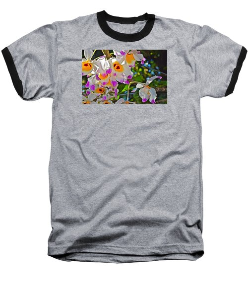 Spring Show 15 Brazilian Orchid Baseball T-Shirt