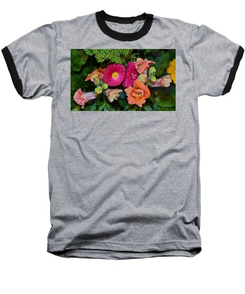 Spring Show 15 Snapdragons And English Daisy Baseball T-Shirt