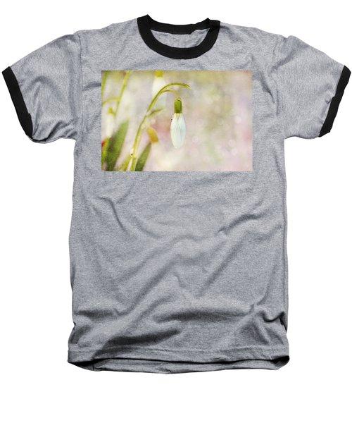 Spring Snowdrops And Bokeh Baseball T-Shirt