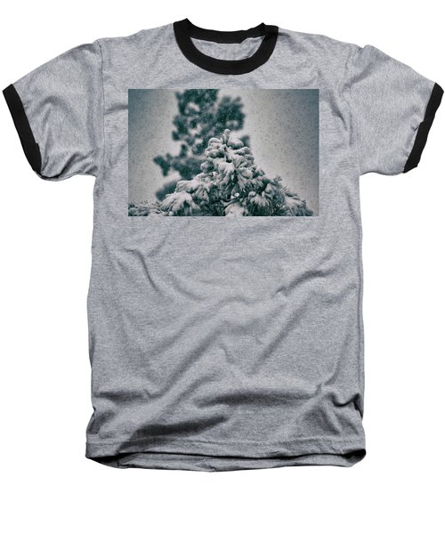 Spring Snowstorm On The Treetops Baseball T-Shirt by Jason Coward