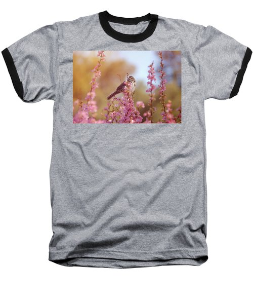 Baseball T-Shirt featuring the photograph Spring Sparrow by Lynn Bauer