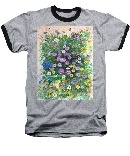 Spring Splendor Baseball T-Shirt by Lucia Grilletto