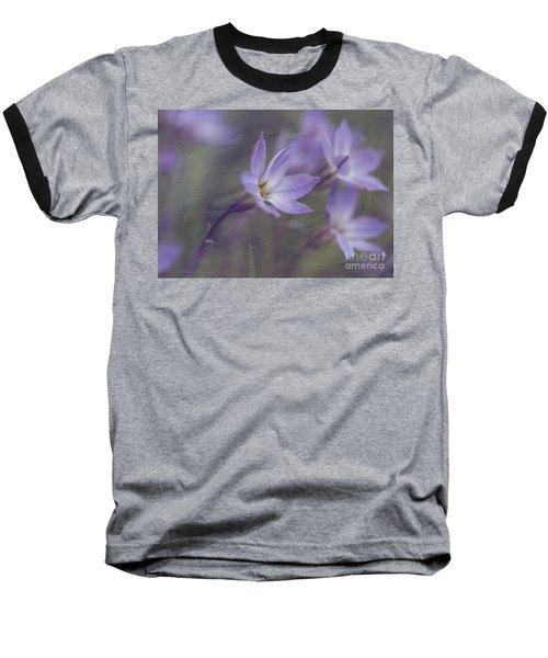 Spring Starflower Baseball T-Shirt by Eva Lechner