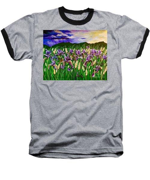 Spring Storm  Iris Fields Baseball T-Shirt