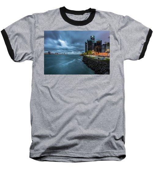 Storm Season In Detroit  Baseball T-Shirt