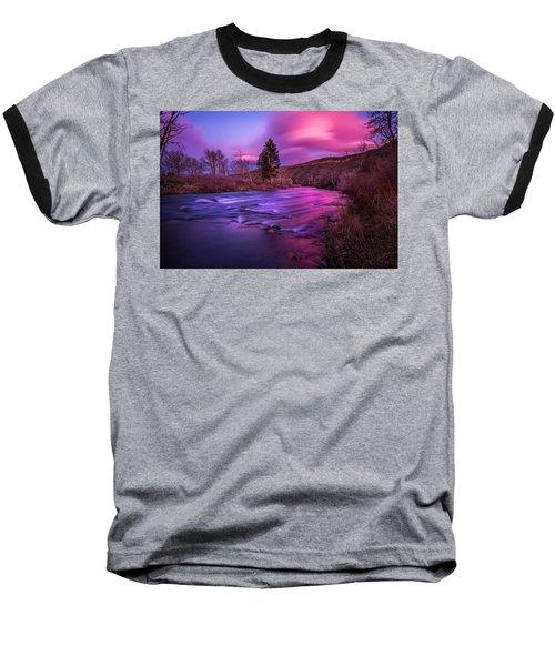 Spring Sunset Along The Truckee River Reno Nevada Baseball T-Shirt