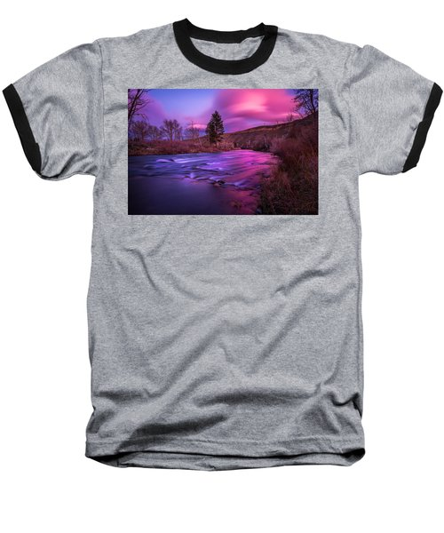 Spring Sunset Along The Truckee River Reno Nevada Baseball T-Shirt
