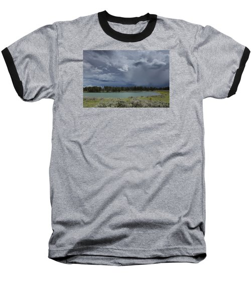 Spring Thunderstorm At Yellowstone Baseball T-Shirt