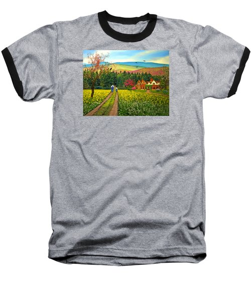 Spring Time In The Mountains Baseball T-Shirt by Nina Bradica
