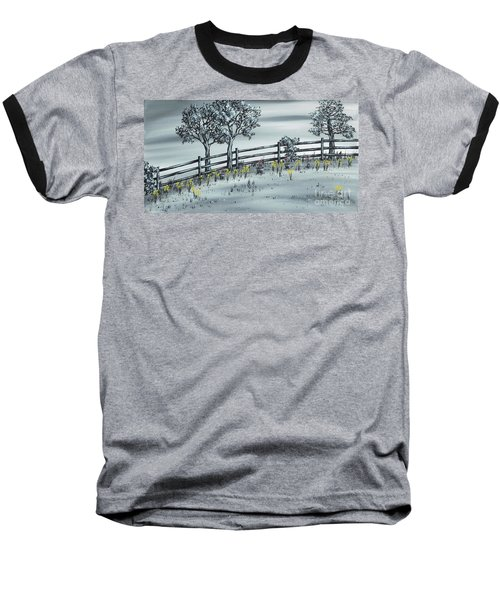Baseball T-Shirt featuring the painting Spring Time by Kenneth Clarke