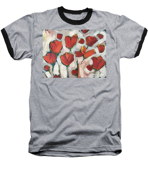 Spring Tulip Garden Baseball T-Shirt