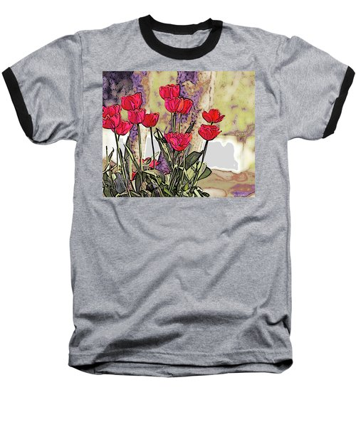 Spring Tulips Baseball T-Shirt