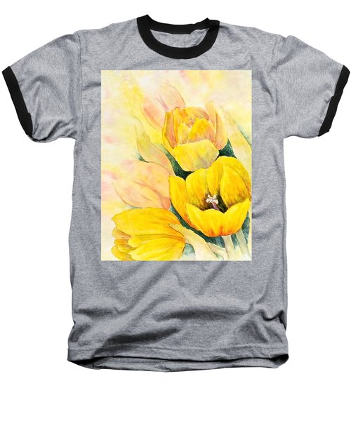 Baseball T-Shirt featuring the painting Spring Tulips by Carolyn Rosenberger